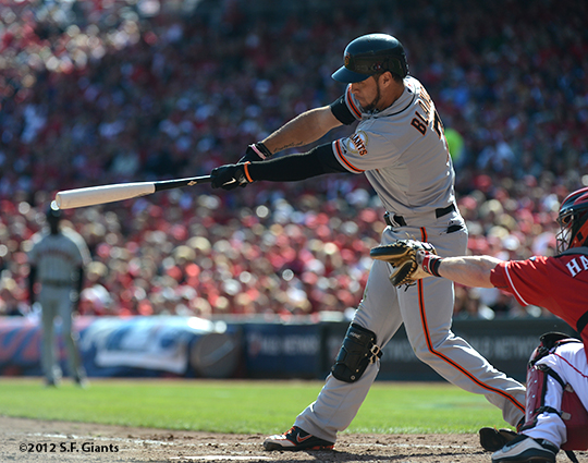 sf giants, san francisoc giants, photo, 10/11/2012, nlds clinch, win, gregor blanco