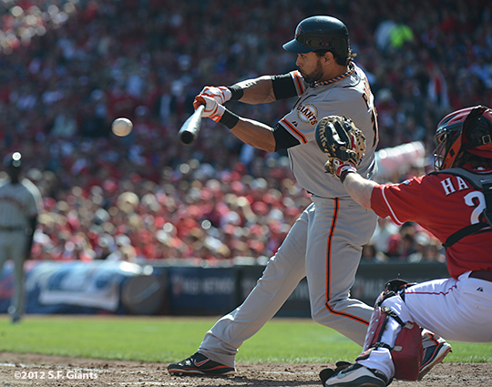 sf giants, san francisoc giants, photo, 10/11/2012, nlds clinch, win, angel pagan