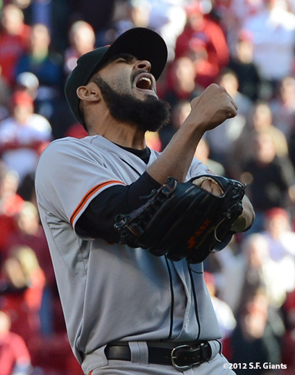 sf giants, san francisco giants, photo, nlds, 2012, sergio romo