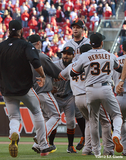 sf giants, san francisco giants, photo, nlds, 2012, win