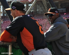 sf giants, san francisco giants, photo, nlds, 2012, hunter pence, bambam meulens
