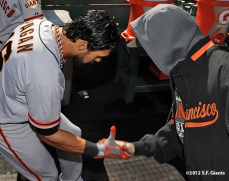 sf giants, san francisco giants, photo, nlds, 2012, angel pagan, tim lincecum