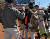 sf giants, san francisoc giants, photo, 10/11/2012, nlds clinch, win, guillermo mota, hunter pence, jeremy affeldt
