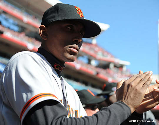 sf giants, san francisco giants, photo, nlds, 2012, joaquin arias