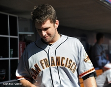 sf giants, san francisoc giants, photo, 10/11/2012, nlds clinch, win, buster posey