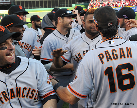 sf giants, san francisco giants, photo, nlds, 2012, team