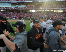sf giants, san francisoc giants, photo, 10/11/2012, nlds clinch, win, team, mark gardner
