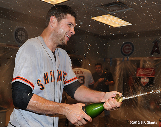 10/11/2012, nlds clinch, win, sf giants, san francisco giants, brandon belt