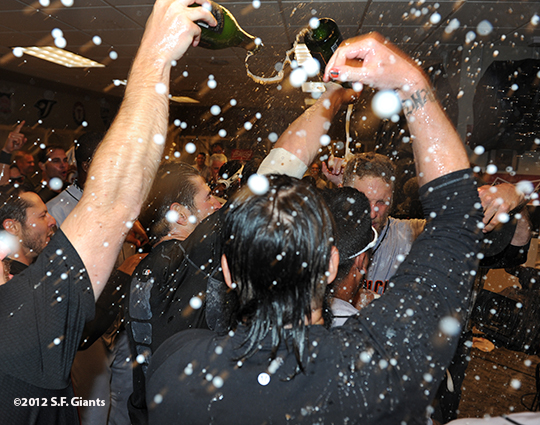 10/11/2012, nlds clinch, win, sf giants, san francisco giants, team