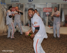 10/11/2012, nlds clinch, win, sf giants, san francisco giants, eli whitesdie, pablo sandoval