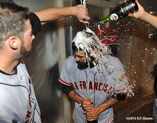 10/11/2012, nlds clinch, win, sf giants, san francisco giants, george kontos, sergio romo