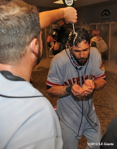10/11/2012, nlds clinch, win, sf giants, san francisco giants, angel pagan, george kontos