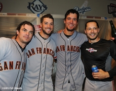 10/11/2012, nlds clinch, win, sf giants, san francisco giants, ryan thriot, george kontos, javeir lopez, clay hensley