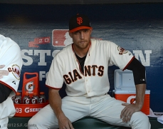 sf giants, san francisco giants, photo, 10/14/2012, nlcs game 1, hunter pence
