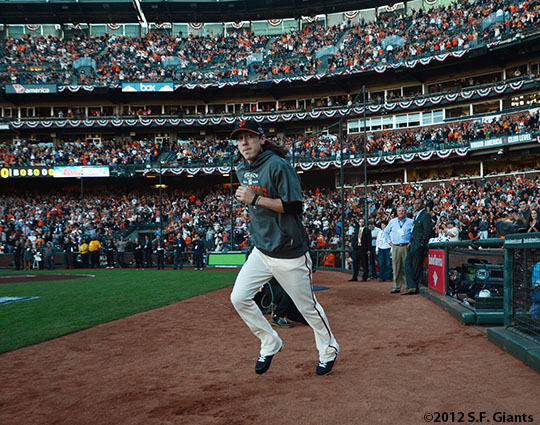 San Francisco Giants, S.F. Giants, photo, 2012, NLCS, Tim Lincecum