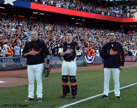 Bill Hayes, Buster Posey and Mark Gardner