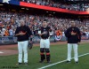 San Francisco Giants, S.F. Giants, photo, 2012, NLCS, Bill Hayes, Buster Posey and Mark Gardner