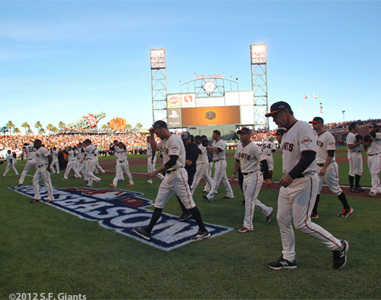 sf giants, san francisco giants, photo, 10/14/2012, nlcs game 1, team