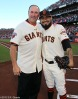 San Francisco Giants, S.F. Giants, photo, 2012, NLCS, Will Clark and Sergio Romo
