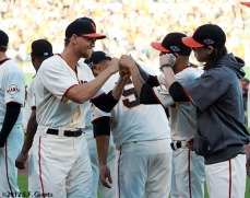 San Francisco Giants, S.F. Giants, photo, 2012, NLCS, Hunter Pence