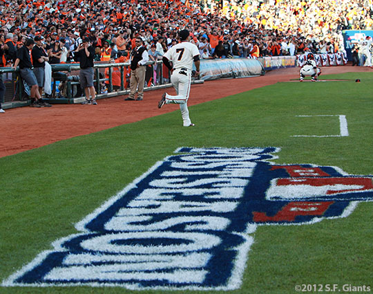 San Francisco Giants, S.F. Giants, photo, 2012, NLCS, Gregor Blanco