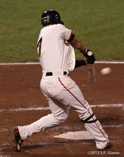 sf giants, san francisco giants, photo, 10/14/2012, nlcs game 1, gregor blanco