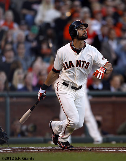 San Francisco Giants, S.F. Giants, photo, 2012, NLCS, Angel Pagan
