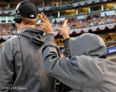 San Francisco Giants, S.F. Giants, photo, 2012, NLCS, Matt Cain and Sergio Romo