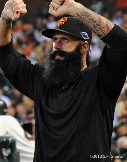 San Francisco Giants, S.F. Giants, photo, 2012, NLCS, Brian Wilson