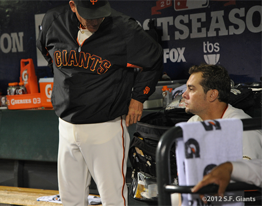 San Francisco Giants, S.F. Giants, photo, 2012, NLCS, Dave Righetti and Ryan Vogelsong