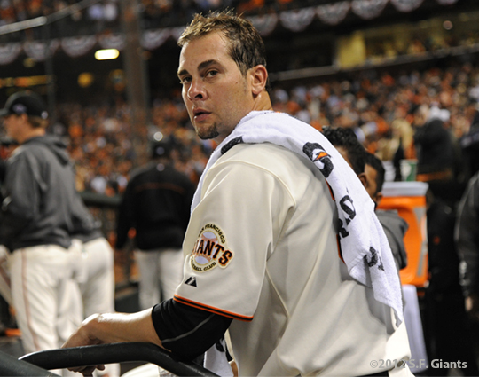sf giants, san francisco giants, photo, 2012, nlcs, RYAN VOGELSONG