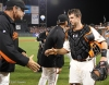 San Francisco Giants, S.F. Giants, photo, 2012, NLCS, Bruce Bochy and Buster Posey
