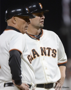 San Francisco Giants, S.F. Giants, photo, 2012, NLCS, Tim Flannery and Ryan Vogelsong