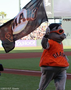 San Francisco Giants, S.F. Giants, photo, 2012, NLCS, Lou Seal