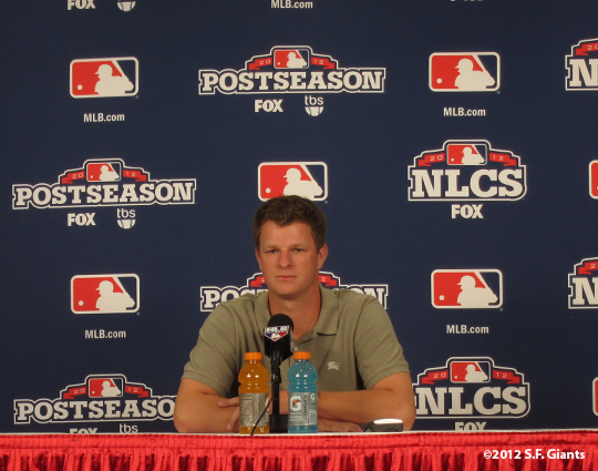 sf giants, san francisco giants, workout day, 10/16/2012, photo, matt cain