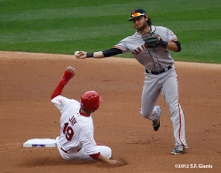 ssf giants, san francisco giants, photo, 10/17/2012, nlcs game 3, BRANDON CRAWFORD