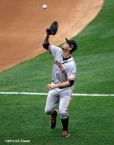 sf giants, san francisco giants, photo, 10/17/2012, nlcs game 3, brandon belt