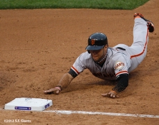 sf giants, san francisco giants, photo, 10/17/2012, nlcs game 3, gregor blanco