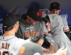 sf giants, san francisco giants, photo, nlcs, 2012, xavier nady, barry zito, tim flannery