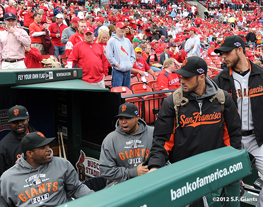sf giants, san francisco giants, photo, 10/17/2012, nlcs game 3, bull pen, team