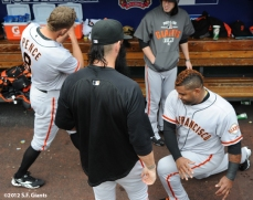sf giants, san francisco giants, photo, nlcs, 2012, hunter pence, pablo sandoval, brian wilson