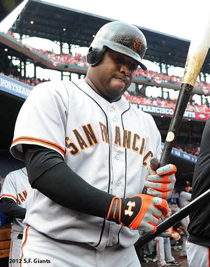 sf giants, san francisco giants, photo, 10/17/2012, nlcs game 3, pablo sandoval