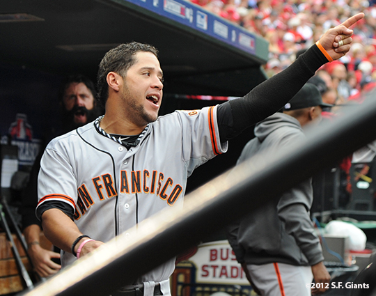 sf giants, san francisco giants, photo, nlcs, 2012, gregor blanco