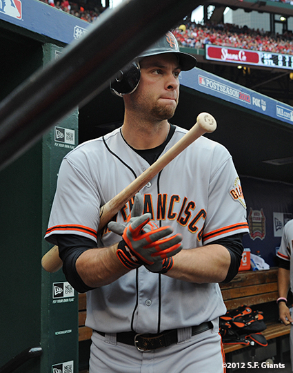 sf giants, san francisco giants, photo, nlcs, 2012, brandon belt