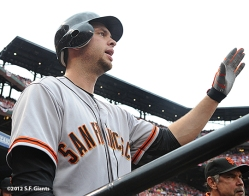ssf giants, san francisco giants, photo, 10/17/2012, nlcs game 3, BRANDON BELT