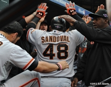 sf giants, san francisco giants, photo, 10/17/2012, nlcs game 3, team, pablo sandoval