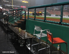 sf giants, san francisco giants, photo, 10/17/2012, nlcs game 3, dugout