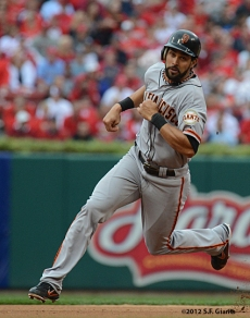 sf giants, san francisco giants, photo, 10/17/2012, nlcs game 3, angel pagan