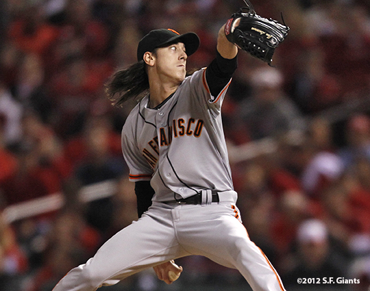 sf giants, san francisco giants, photo, 10/18/2012, nlcs game 4, tim lincecum