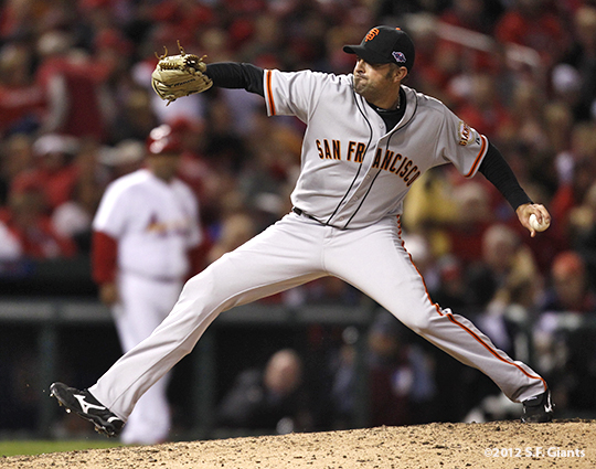 sf giants, san francisco giants, photo, 10/18/2012, nlcs game 4, jeremy affeldt
